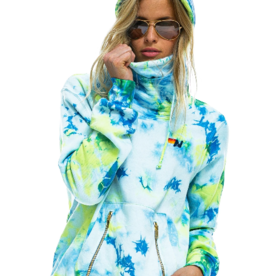 Aviator Nation Aviator Nation Ninja Pullover- Tie Dye Neon Yellow