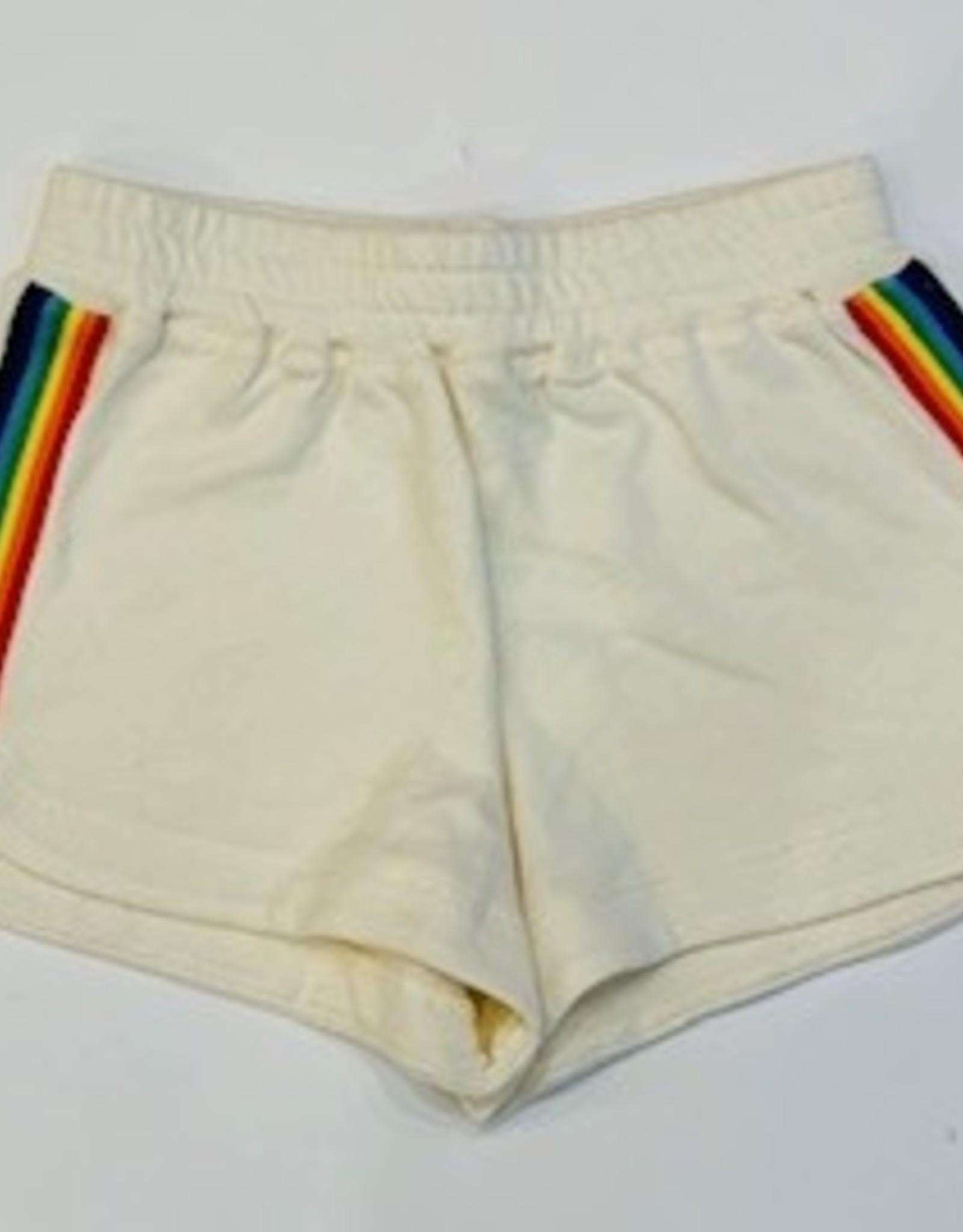 KatieJnyc KatieJnyc Ali Rainbow Trim Shorts