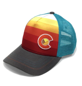 Yo Colorado Yo Colorado Kids Sunset Fader Trucker