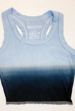 KatieJnyc Katiejnyc Livi Ribbed Crop Tank - Dip Dye Navy and Baby Blue