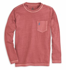 Johnnie-O Johnnie-O Brennan Long Sleeve Tee - Malibu Red
