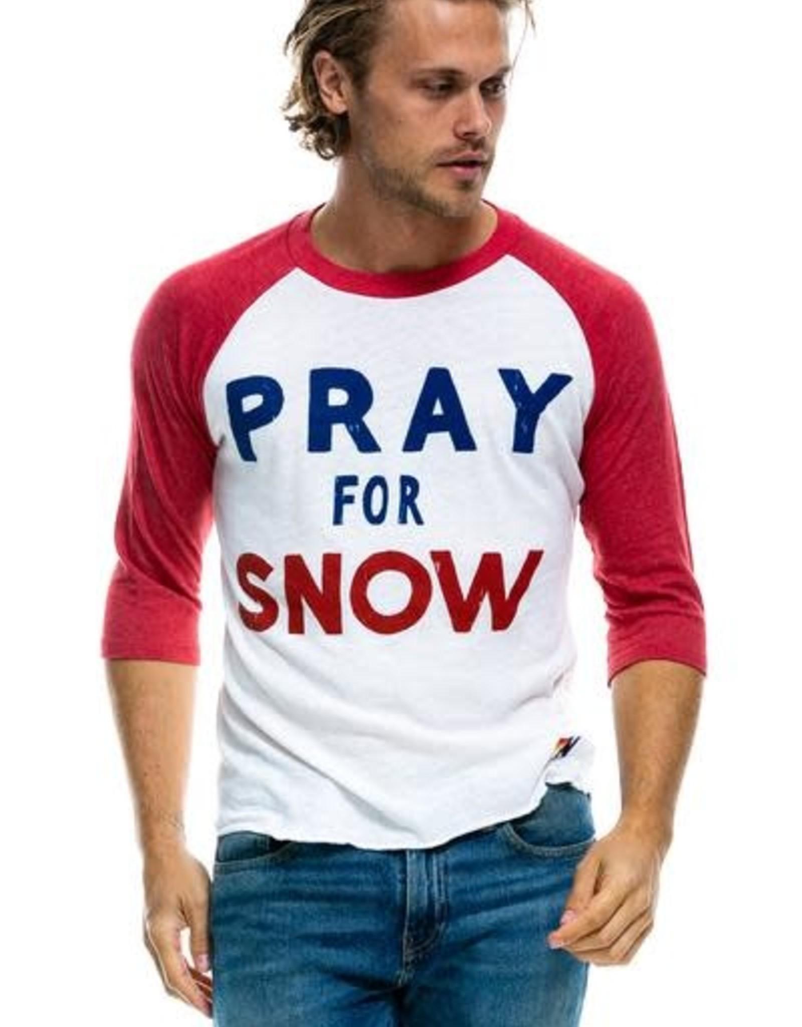 Aviator Nation Aviator Nation Adult Pray for Snow Baseball Tee