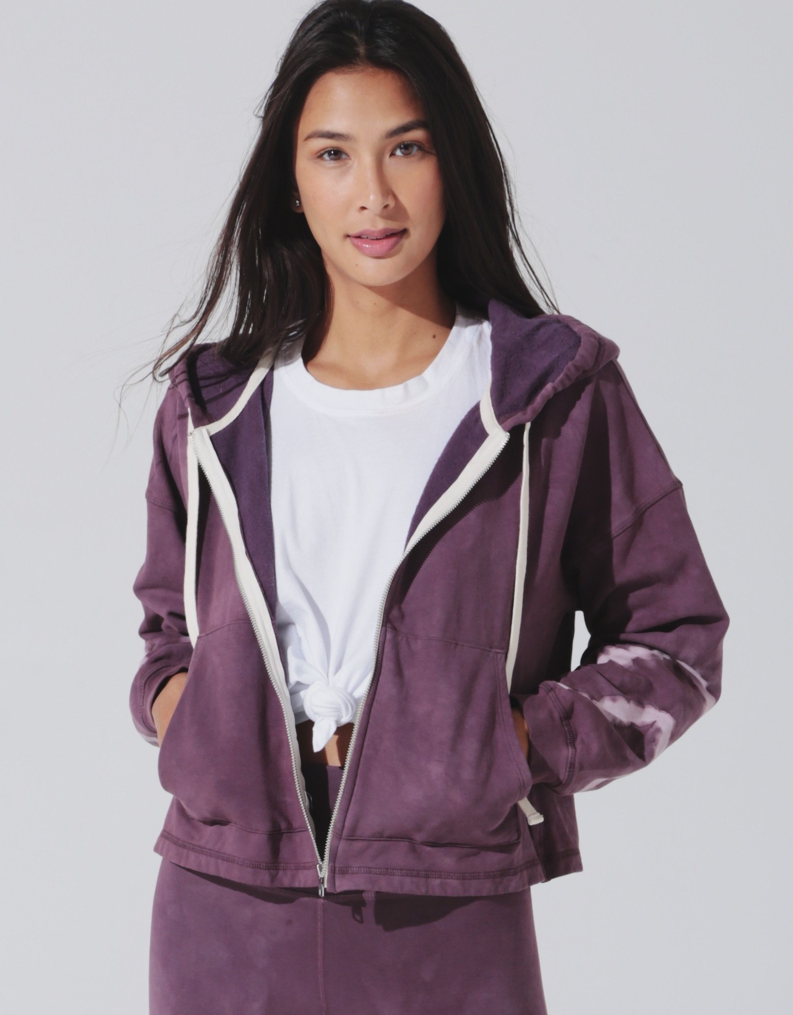 Electric & Rose Electric & Rose Westside Zip Hoodie - Chevron Wash