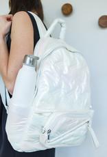 Go Dash Dot Go Dash Dot Maya Backpack - White Iridescent