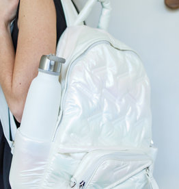 Go Dash Dot Go Dash Dot Maya Backpack - White Iridescent