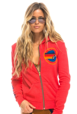 Aviator Nation Aviator Nation Zip Hoodie - Neon Red