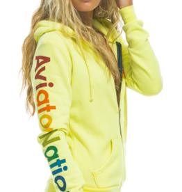 Aviator Nation Aviator Nation Zip Hoodie - Neon Yellow