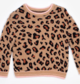 Nev & Lizzie Nev & Lizzie Tan Leopard Cozy Knit Sweater
