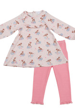 Angel Dear Angel Dear Woodland Deer Ruffle Dress and Leggings