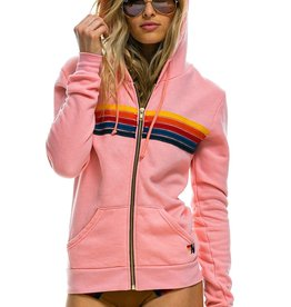 Aviator Nation Aviator Nation 5 Stripe Stitch Hoodie - Blush