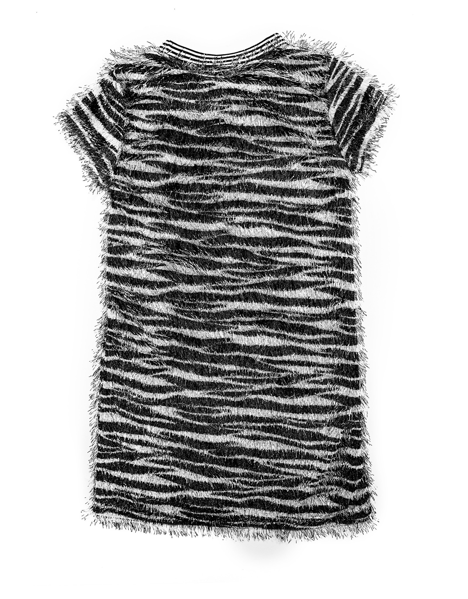 MIA NEW YORK MIA NEW YORK Zebra Fringe Dress