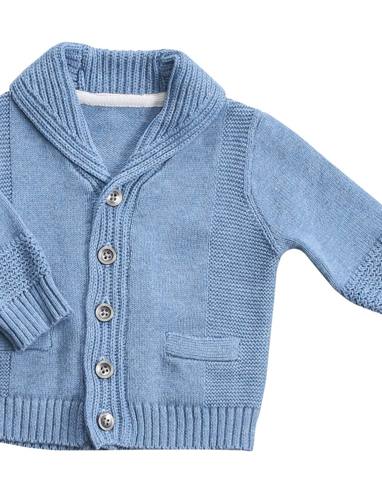 Angel Dear Angel Dear Shawl Collar Cardigan - Blue Heather