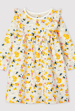 Petit Bateau Petit Bateau Baby Girl LS Floral Dress
