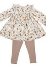 Angel Dear Angel Dear Autumn Owls Ruffle Dress and Leggings