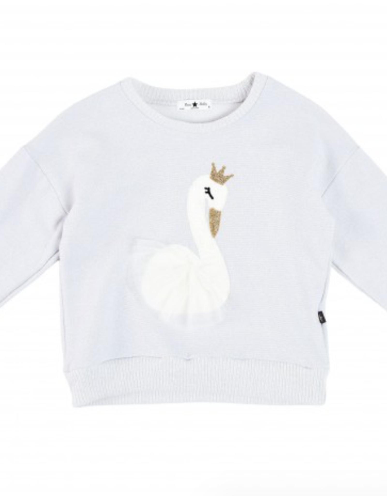 Petite Hailey Petite Hailey Swan Glitter Sweater