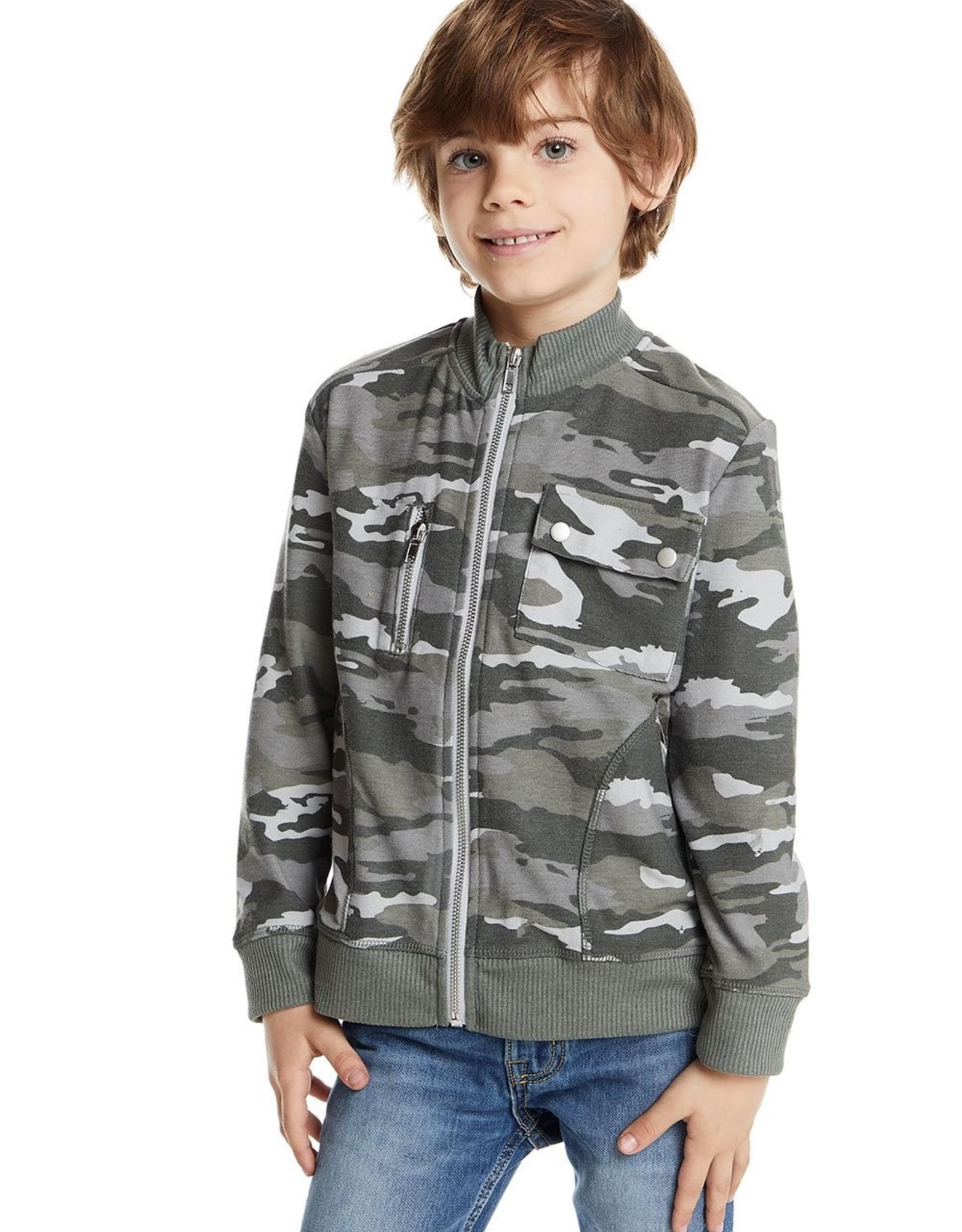 Chaser Chaser Boys Mock Neck Zip Jacket