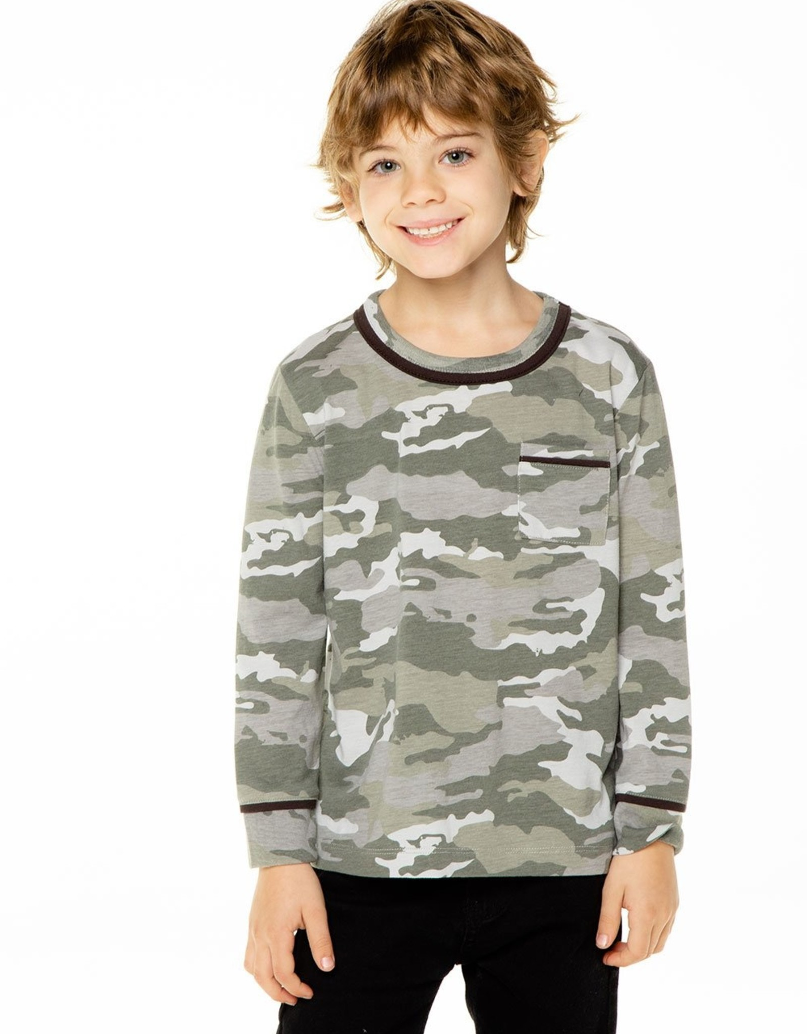 Chaser Chaser Boys LS Pocket Tee w Piping