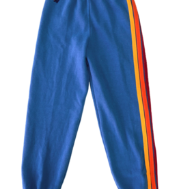 Aviator Nation Aviator Nation Kids 5 Stripe Stitch Sweatpant - Cobalt