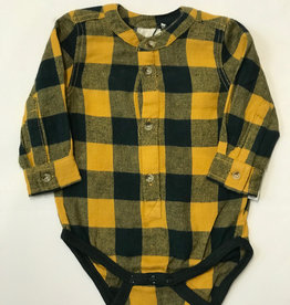 Minymo Minymo Baby Boy L/S Flannel Onesie