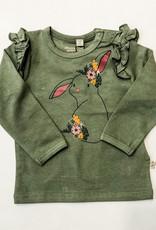 Minymo Minymo Baby Girl Cotton Ruffle L/S Tee
