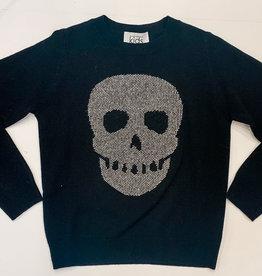 Autumn Cashmere Autumn Cashmere Stitched Skull Sweater - Black/Tofu