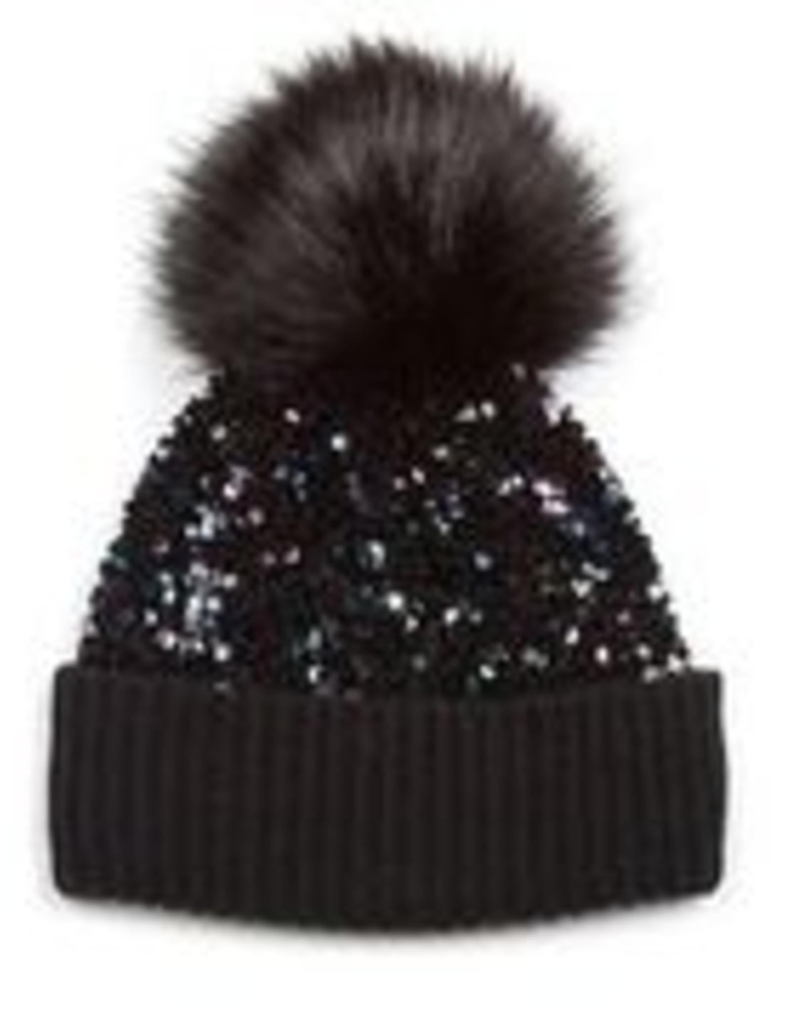 Jocelyn Jocelyn Kids Sequin Hat w Pom