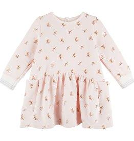 Petit Bateau Petit Bateau Baby Girl Mauraine LS Flower Print Dress