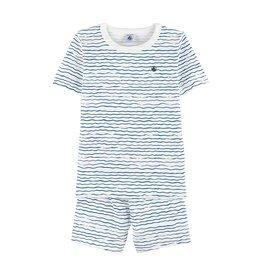 Petit Bateau Petit Bateau Boy SS Loungewear Set - Waves Print