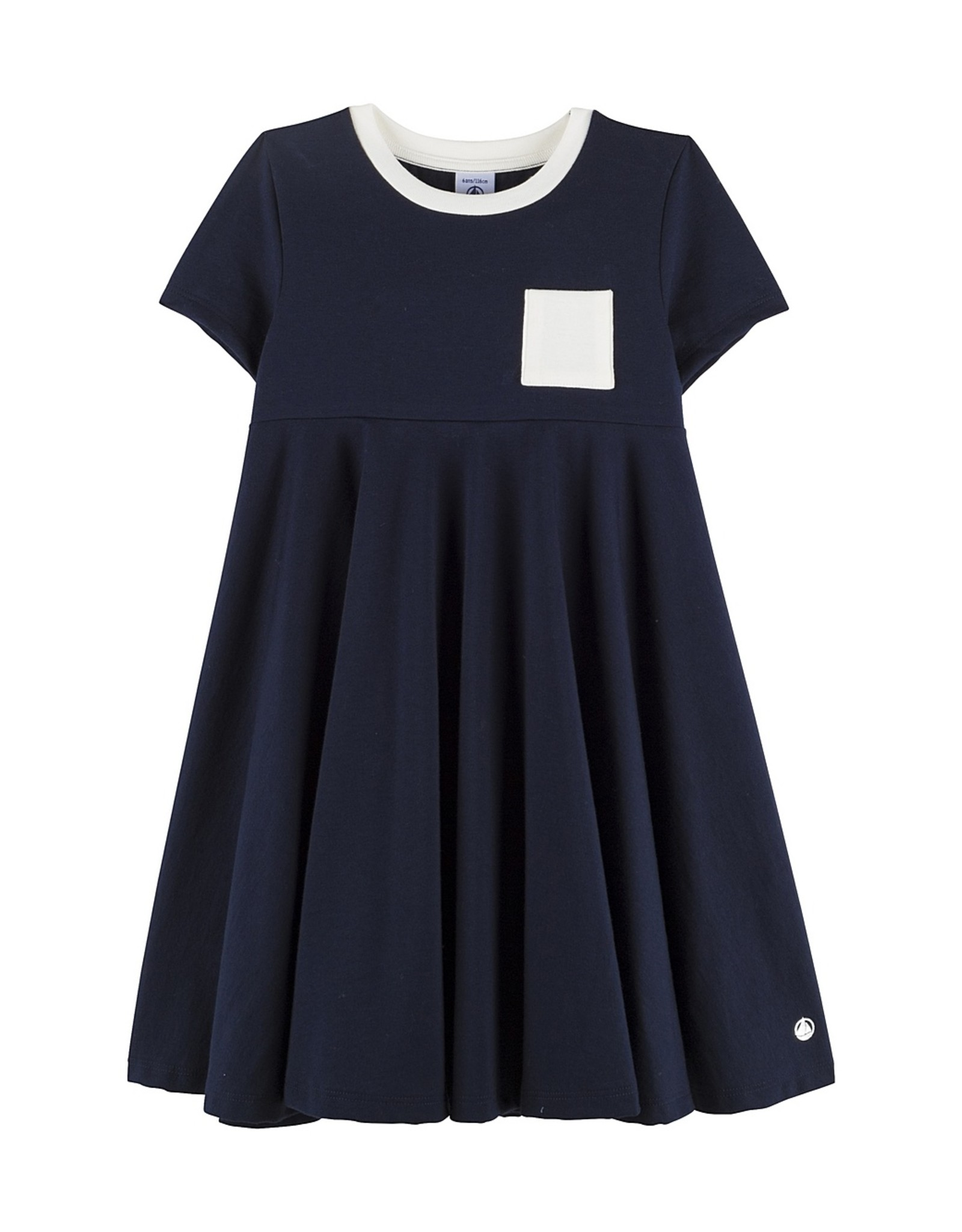 Petit Bateau Petit Bateau Girl Mall SS Dress w Pocket