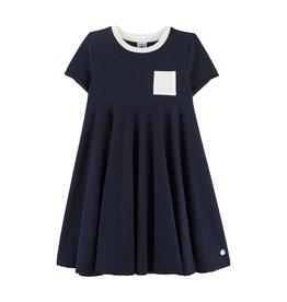Petit Bateau Petit Bateau Girl Mall SS Dress w Pocket