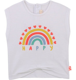 Billieblush Billieblush Baby Tie-Front Happy Rainbow Tee