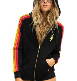 Aviator Nation Aviator Nation Bolt Embroidery Classic 4 - Zip Hoodie : Black Neon