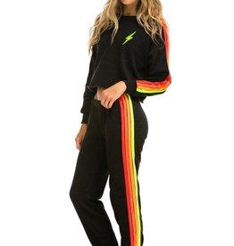 Aviator Nation Aviator Nation 4 Stripe Sweatpant - Black/Neon
