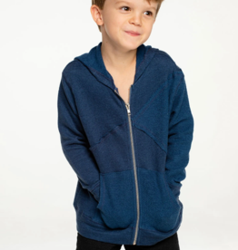 Chaser Chaser Boys Linen French Terry Reverse Panel Hoodie