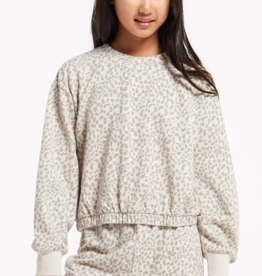 Z Supply Z Supply Girls Carmen Leopard LS Top