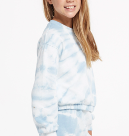 Z Supply Z Supply Girls Carmen Tie-Dye LS Top