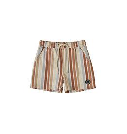 Rylee + Cru Rylee + Cru Striped Boys Long Swim Trunk