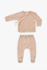 Quincy Mae Quincy Mae Kimono Top + Footed Pant Set