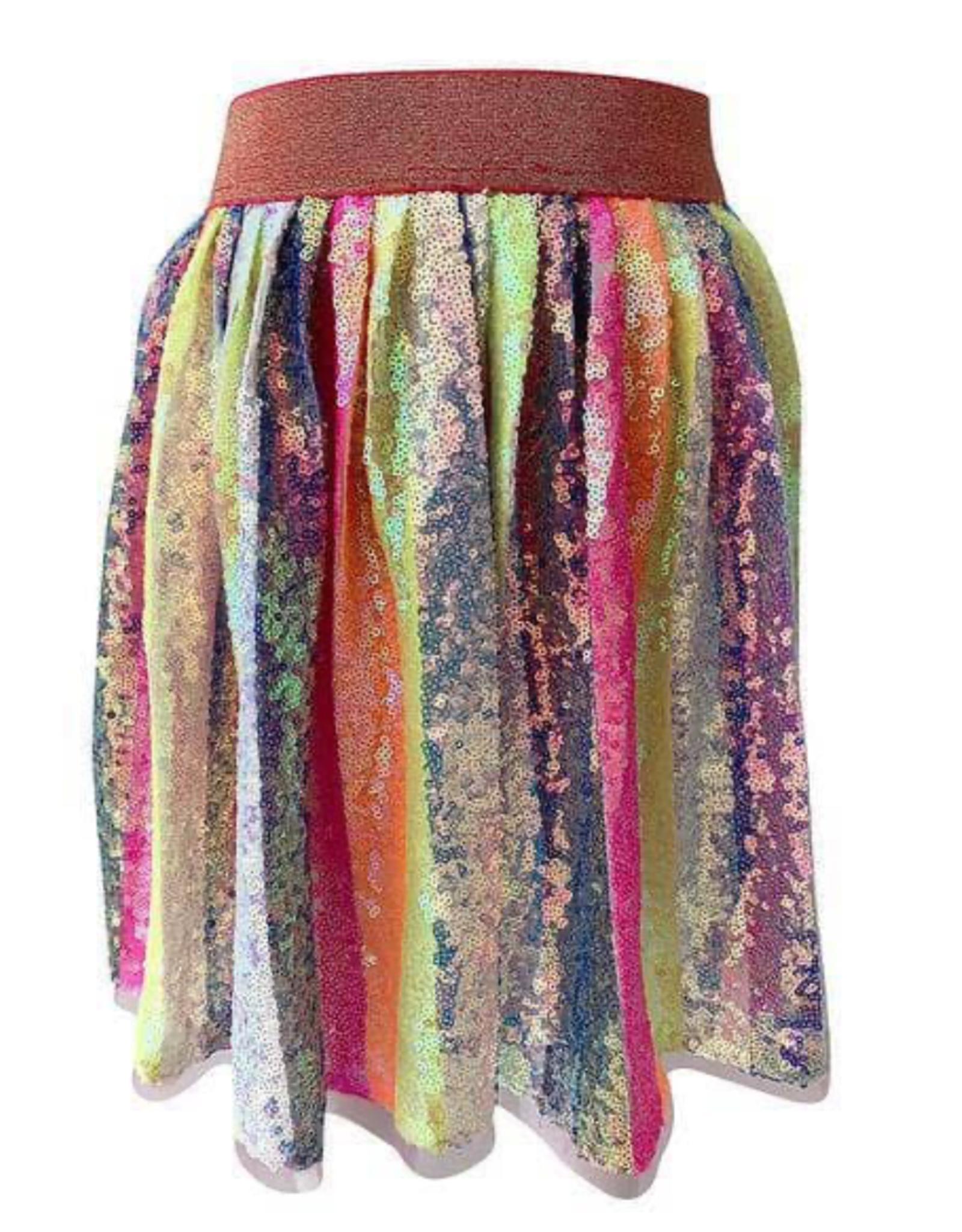 Lola & The Boys Lola & The Boys Striped Sequin Skirt