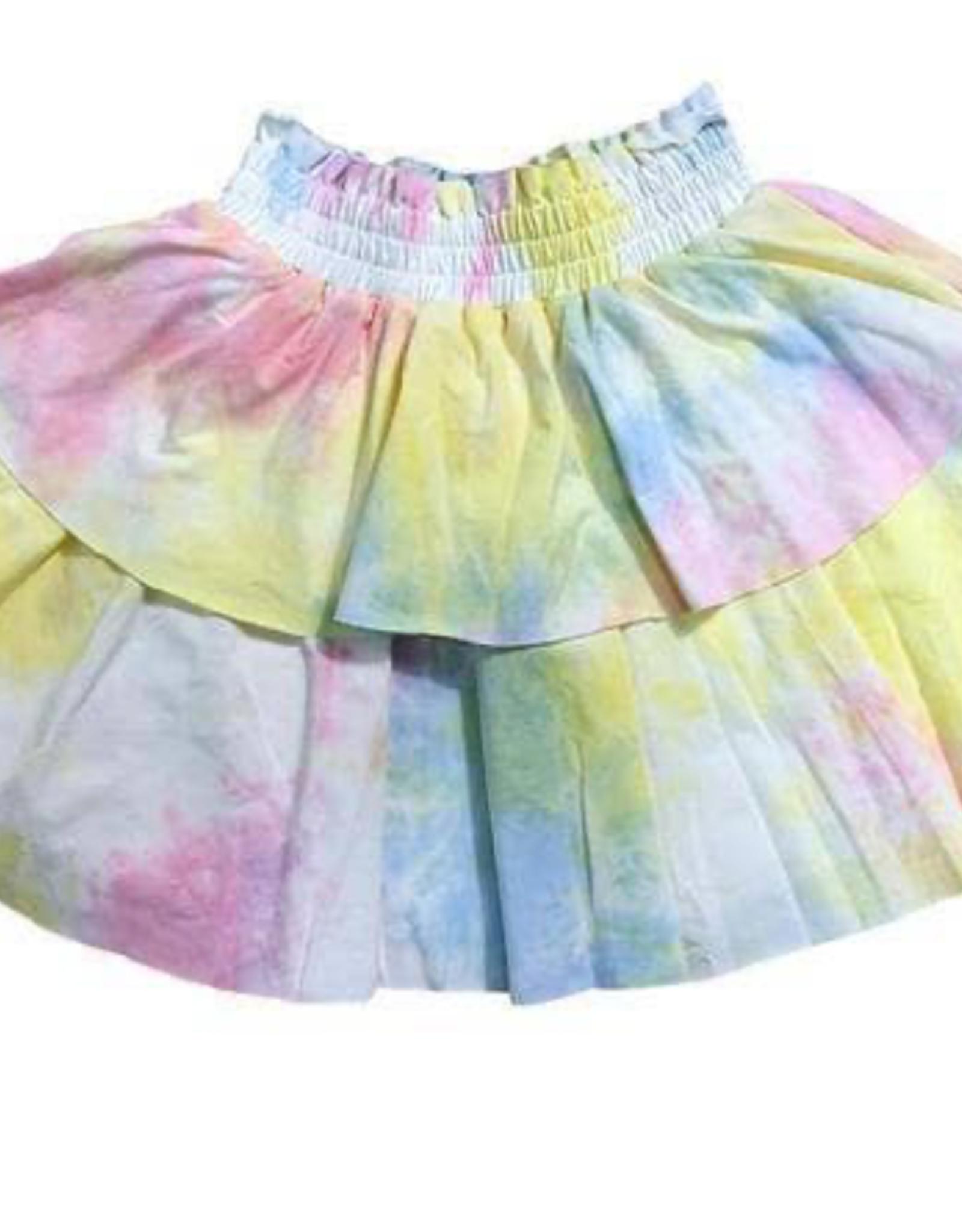 Lola & The Boys Lola & The Boys Tie-Dye Tiered Skirt
