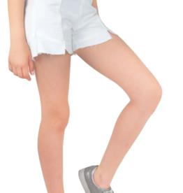 tractr tractr White Ruffle Denim Shorts