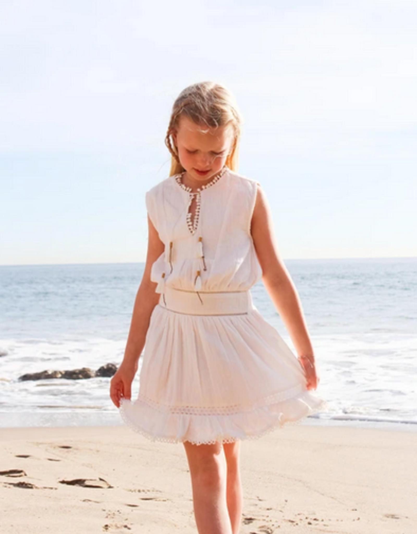Bell Bell White Gauze Ava Dress