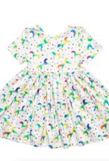 Mila & Rose Mila & Rose Born to Unicorn S/S Pocket Twirl Dress