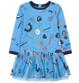 Billieblush Billieblush Glitter Print Dress