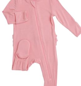 Angel Dear Angel Dear Solid Basic Zipper Footie - Pink