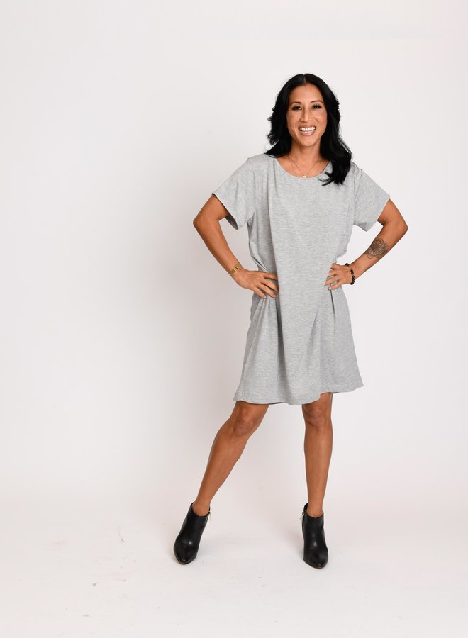 Chris Dress Heather Grey