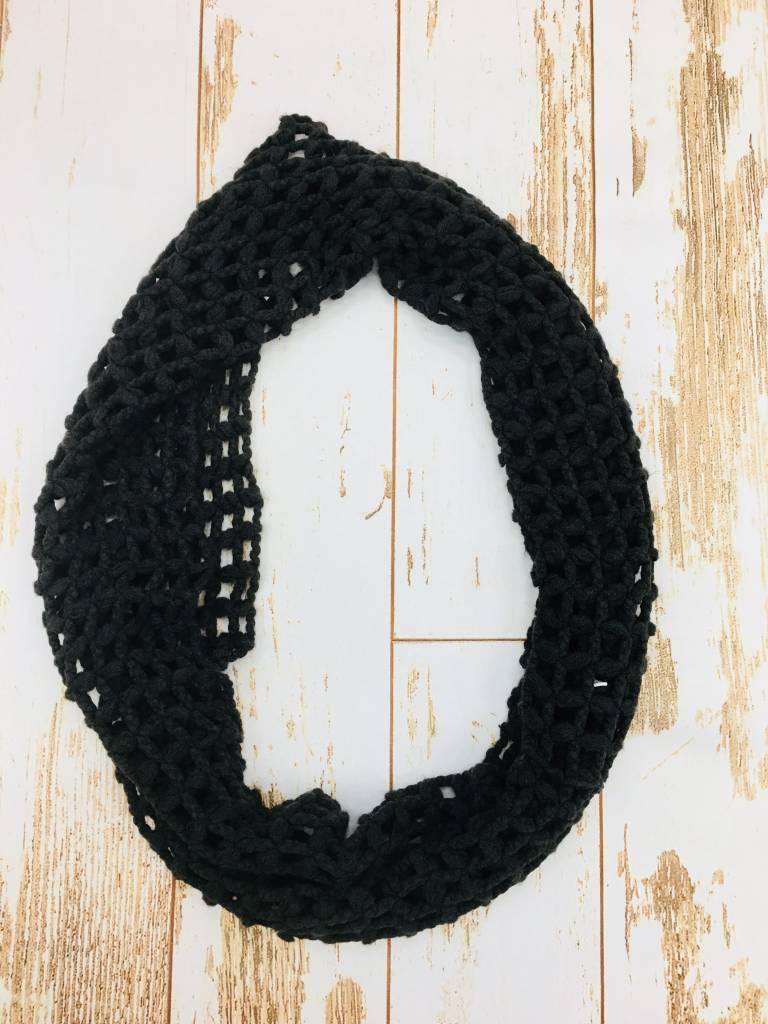 Panache Big Weave Scarf Black