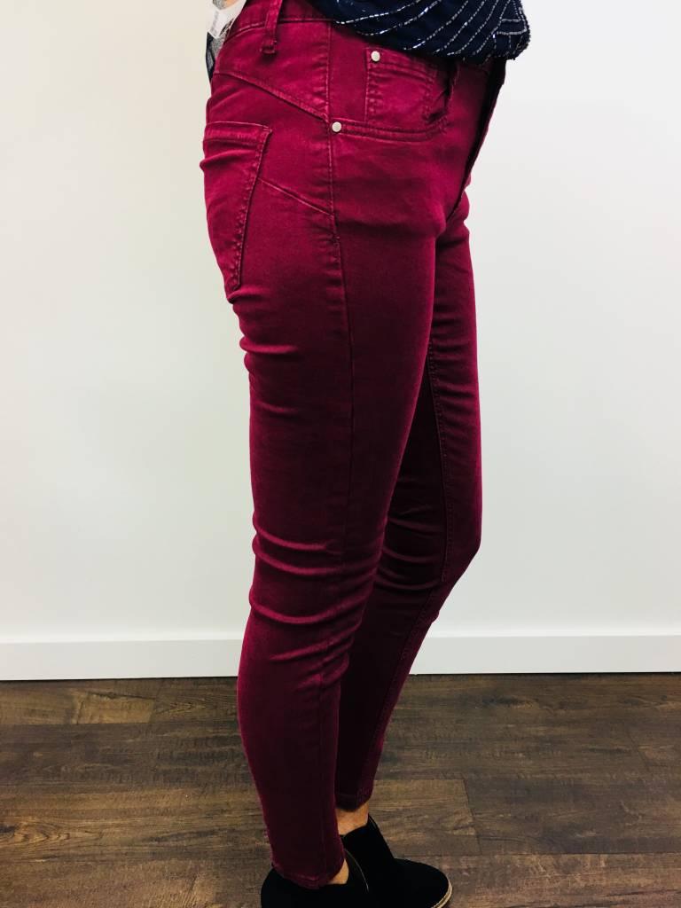 Dex Push Up Skinny Jean Ruby Wine