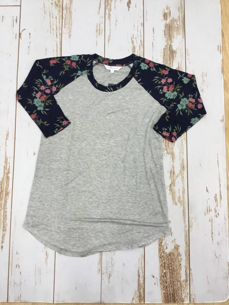Downeast Ball Game Tee in Navy Floral