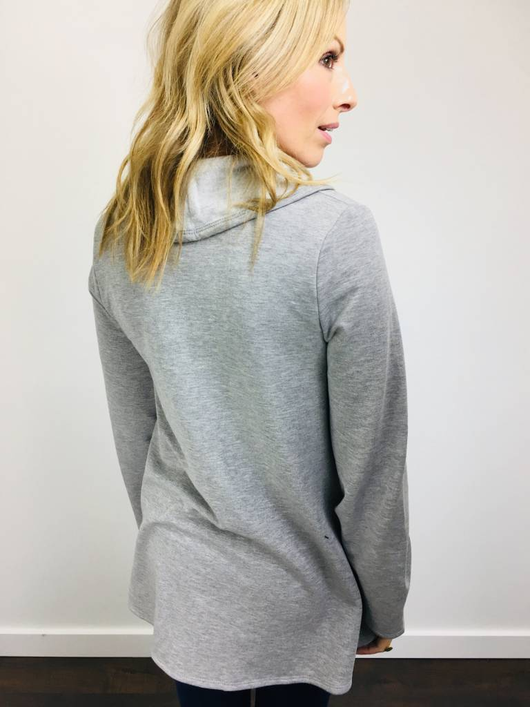 Downeast Forever Fleece Jacket in Heathered Gray